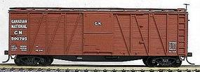 Accurail 40 Wood Outside-Braced Boxcar Kit Canadian National HO Scale Model Train Freight Car #4102