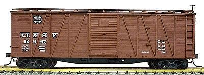 Accurail 40' Wood Outside-Braced Boxcar Kit Santa Fe -- HO Scale Model Train Freight Car -- #4501
