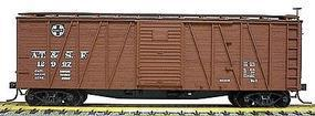 Accurail 40 Wood Outside-Braced Boxcar Kit Santa Fe HO Scale Model Train Freight Car #4501