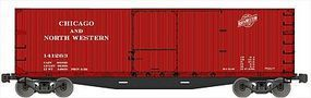 Accurail Double Sheathed Wood Boxcar Kit Chicago & NW HO Scale Model Train Freight Car #46021