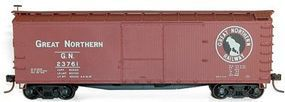 Accurail 40 Double-Sheathed Wood Boxcar Kit Great Northern HO Scale Model Train Freight Car #46044