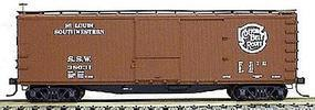Accurail 40 Double-Sheathed Wood Boxcar Kit Cotton Belt HO Scale Model Train Freight Car #4608