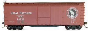 Accurail 40 Double-Sheathed Wood Boxcar Kit Great Northern HO Scale Model Train Freight Car #4690
