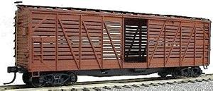 Accurail 40' Wood Stock Car - Kit (Plastic) - Undecorated -- HO Scale Model Train Freight Car -- #4700