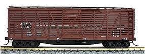 Accurail 40 Wood Stock Car - Kit (Plastic) - Santa Fe HO Scale Model Train Freight Car #4701