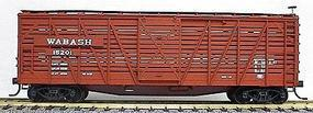 Accurail 40 Wood Stock Car - Kit (Plastic) - Wabash HO Scale Model Train Freight Car #4706