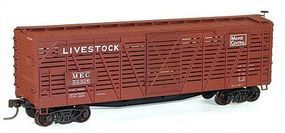 Accurail 40 Wood Stock Car - Kit (Plastic) - Maine Central HO Scale Model Train Freight Car #4735