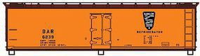 Accurail 40 Wood Reefer - Plastic Kit - Bangor & Aroostook HO Scale Model Train Freight Car #4830