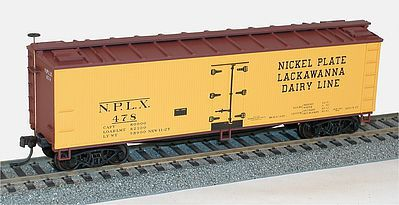 Accurail 40' Wood Reefer Nickel Plate Road LDL -- HO Scale Model Train Freight Car -- #4852