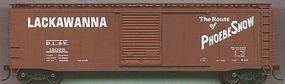 Accurail 50 Single-Door Riveted-Side Boxcar Lackawanna HO Scale Model Train Freight Car #5010