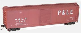 Accurail 50 AAR Riveted Boxcar Kit Pittsburgh & Lake Erie HO Scale Model Train Freight Car #5031