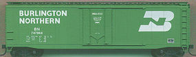 Accurail 50 Plug Door Riveted Boxcar Kit Burlington Northern HO Scale Model Train Freight Car #5104