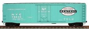 Accurail 50 Plug-Door Riveted Boxcar - Kit New York Central HO Scale Model Train Freight Car #5108