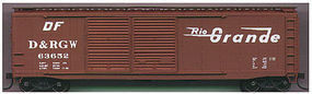 Accurail 50 AAR Dbl Door Riveted Boxcar Kit Denver & RGW HO Scale Model Train Freight Car #5205