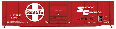 Accurail 50' Steel Boxcar ATSF -- HO Scale Model Train Freight Car -- #5501