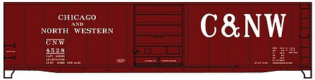 Accurail 50' Steel Boxcar Chicago & North Western -- HO Scale Model Train Freight Car -- #5502