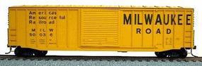 Accurail 50 Exterior Post Boxcar - Kit (Plastic) Milwaukee Road HO Scale Model Train Freight Car #5631