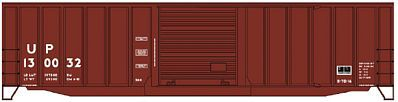 Accurail 50' Exterior-Post Plug-Door Boxcar Kit Union Pacific -- HO Scale Model Train Freight Car -- #5656