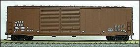 Accurail 50 Welded Double-Door Boxcar Kit Santa Fe Mineral Red HO Scale Model Train Freight Car #5901