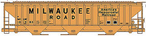 Accurail PS 4750 Grain Hopper Milwaukee Road HO Scale Model Train Freight Car #6517
