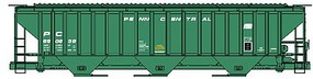 Accurail Penn Central 4750 Pullman Standard Covered Hopper Kit HO Scale Model Train Freight Car #6523