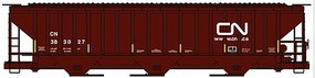 Accurail Pullman-Standard 4750 3-Bay Covered Hopper - Kit Canadian National