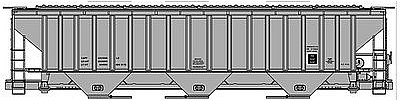 Accurail PS 4750 3-Bay Covered Hopper Kit Data Only -- HO Scale Model Train Freight Car -- #6596