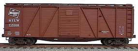 Accurail 40 Wood 6-Panel Outside-Braced Boxcar Milwaukee Road HO Scale Model Train Freight Car #7109