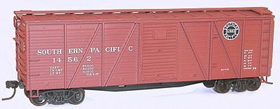 Accurail 40' Wood 6-Panel Boxcar Kit - Southern Pacific -- HO Scale Model Train Freight Car -- #71121