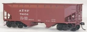 Accurail 50-Ton Offset-Side Twin Hopper Kit ATSF HO Scale Model Train Freight Car #7701