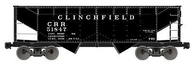 Accurail 50-Ton Offset-Side Twin Hopper Kit Clinchfield -- HO Scale Model Train Freight Car -- #7725