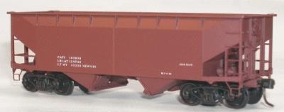 Accurail 50-Ton Offset-Side Twin Hopper Data Only Mineral Red -- HO Scale Model Train Freight Car -- #7798