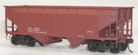 Accurail 50-Ton Offset-Side Twin Hopper Data Only Mineral Red HO Scale Model Train Freight Car #7798