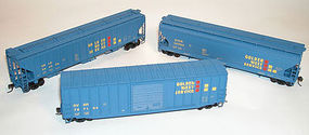 Accurail Boxcar/Hopper Golden West Service (3) HO Scale Model Train Freight Car Set #8061