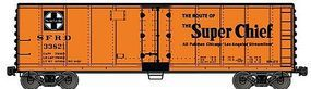 Accurail Steel Reefer ATSF Super Chief HO Scale Model Train Freight Car #80621