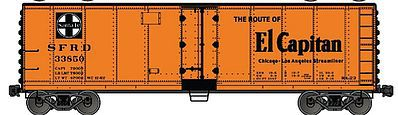 Accurail Steel Reefer ATSF El Capitan -- HO Scale Model Train Freight Car -- #80623