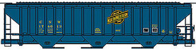 Accurail PS 4750 Hopper Chicago & North Western blue HO Scale Model Train Freight Car #80643