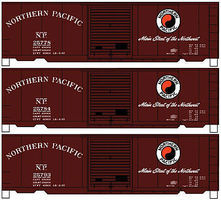Accurail 40 PS-1 Boxcar Northern Pacific (3 pack) HO Scale Model Train Freight Car Set #8073