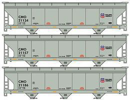Accurail ACF Hopper Union Pacific/CMO Set of 3 HO Scale Model Train Freight Car #8074