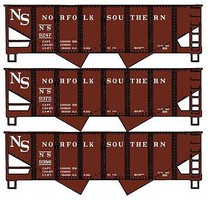 Accurail USRA 55-Ton 2-Bay Open Hopper 3-Pack - Kit Original Norfolk Southern