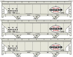 Accurail HO ACF Cvd Hoppers NYC 3#set
