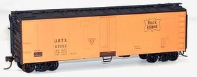 Accurail 40 Steel Reefer w/Hinged Door Kit Rock Island HO Scale Model Train Freight Car #8310