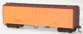 Accurail 40 Steel Reefer w/Hinged Door Kit Data Only (orange) HO Scale Model Train Freight Car #8394