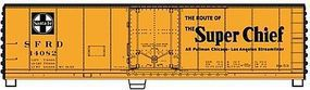 Accurail 40 Plug Door Steel Reefer Kit Santa Fe HO Scale Model Train Freight Car #8501