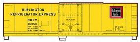 Accurail 40 Plug Door Steel Reefer Kit Burlington HO Scale Model Train Freight Car #8502