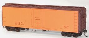 Accurail 40 Steel Reefer w/Plug Doors Kit (Data Only (orange) HO Scale Model Train Freight Car #8594