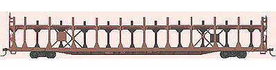 Accurail 89' Bi-Level Open Auto Rack Kit Undecorated -- HO Scale Model Train Freight Car -- #9200