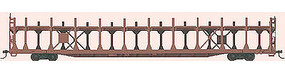 Accurail 89 Bi-Level Open Auto Rack Kit Undecorated HO Scale Model Train Freight Car #9200