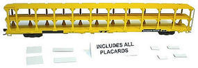 Accurail Tri-Level Open Auto Rack - TTX Data Only (yellow) HO Scale Model Train Freight Car #9395