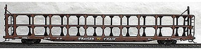 Accurail Tri-Level Open Auto Rack - TTX Data Only (Mineral Red) HO Scale Model Train Freight Car #9398